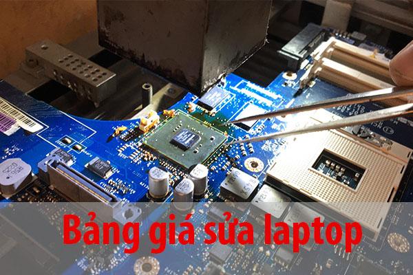 Bảng giá sửa laptop 2021